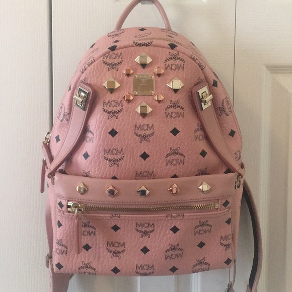 ffc22c963 MCM Bags | Medium Dual Stark Backpack In Millennial Pink | Poshmark